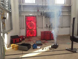 Smoke Test with Commercial Air Pressure Test