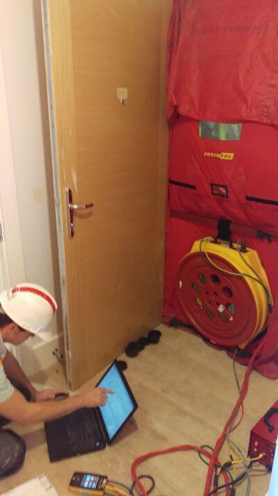 Air Tightness Testing New Build House - Internal View