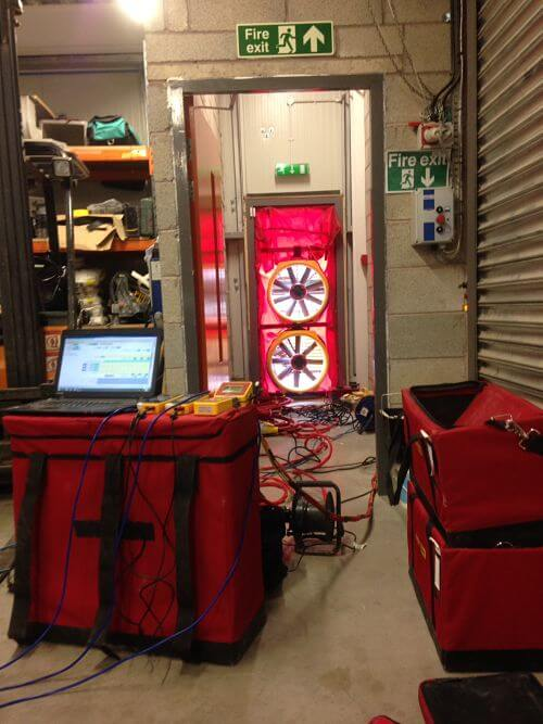 Commercial Air Tightness Test Internal View