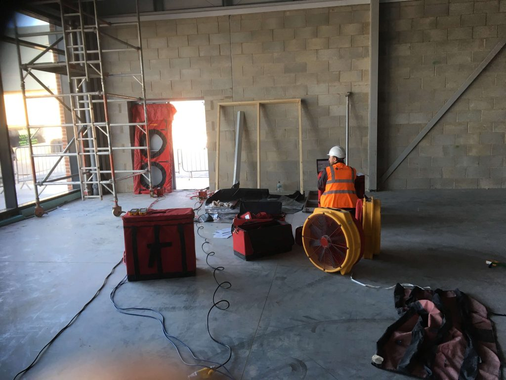 Commercial Air Tightness Test, Nottingham, East Midlands