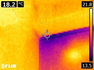 Room Integrity Testing Thermal Image